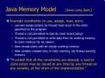 java memory model java lang spec