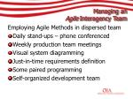 managing an agile interagency team