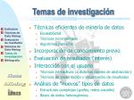 temas de investigaci n