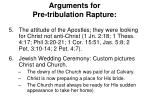 arguments for pre tribulation rapture1