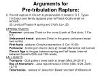 arguments for pre tribulation rapture3