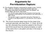arguments for pre tribulation rapture7