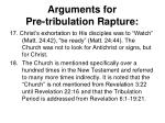 arguments for pre tribulation rapture8