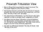 prewrath tribulation view