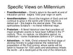 specific views on millennium
