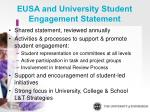 eusa and university student engagement statement