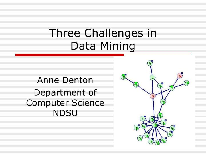 three challenges in data mining n.