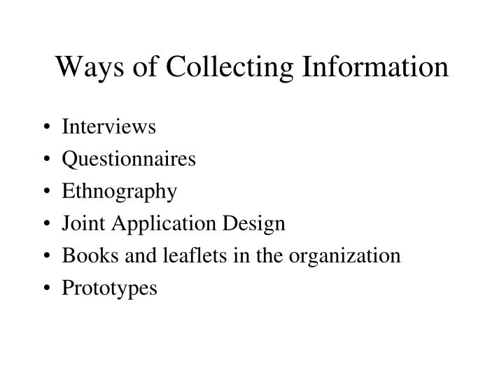 ways of collecting information n.