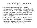 co je ontologick realismus