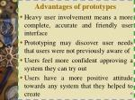 advantages of prototypes