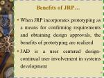 benefits of jrp1
