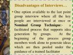 disadvantages of interviews1