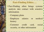 fact finding ethics