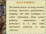 fact finding
