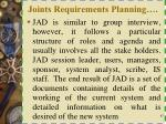 joints requirements planning1
