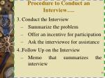 procedure to conduct an interview1