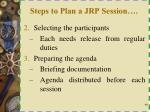 steps to plan a jrp session1