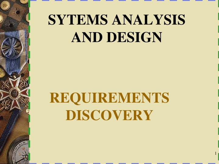 sytems analysis and design n.