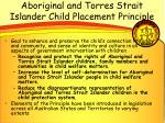aboriginal and torres strait islander child placement principle