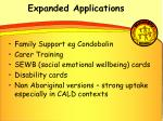 expanded applications