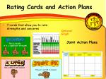rating cards and action plans