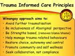 trauma informed care principles