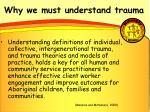 why we must understand trauma