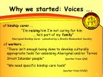 why we started voices