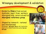 winangay development validation