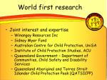 world first research