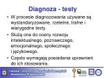 diagnoza testy