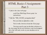 html basics i assignment part 3