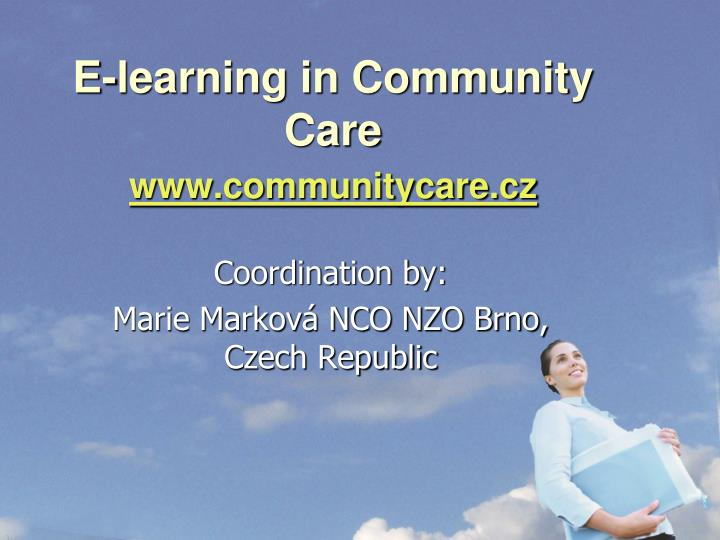 e learning in community care www communitycare cz n.