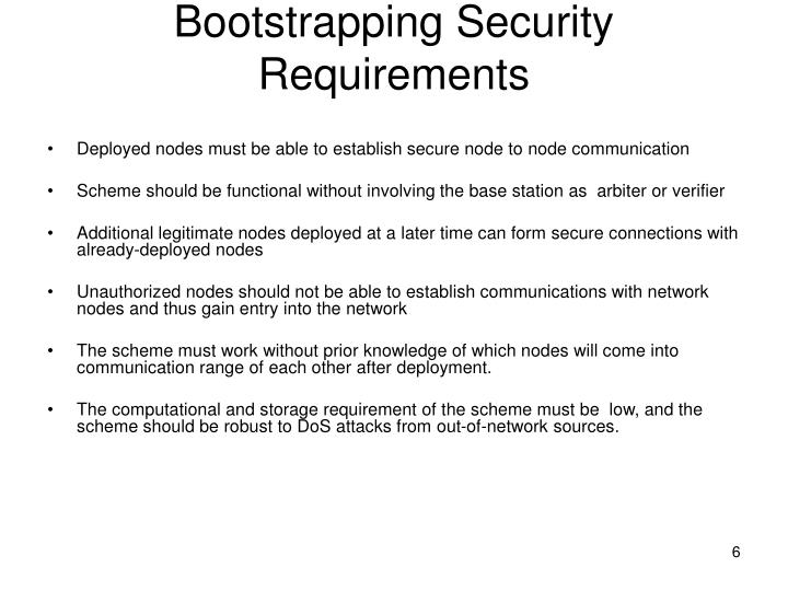 Bootstrapping Security Requirements