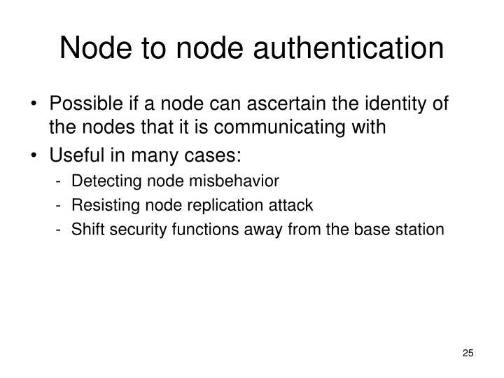 Node to node authentication
