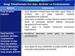vergi y netiminde rol alan akt rler ve fonksiyonlar1