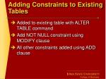 adding constraints to existing tables