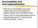 accessibility and internationalisation
