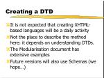 creating a dtd