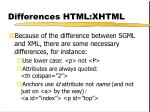 differences html xhtml