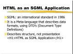 html as an sgml application
