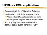 html as xml application