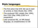 style languages