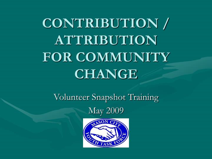 contribution attribution for community change n.
