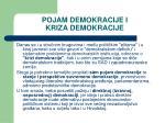 pojam demokracije i kriza demokracije1