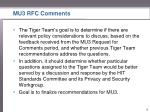 mu3 rfc comments