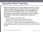 security rule training