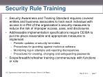 security rule training