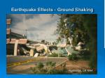 earthquake effects ground shaking