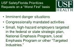 usf safetyflorida prioritizes requests on a worst first basis